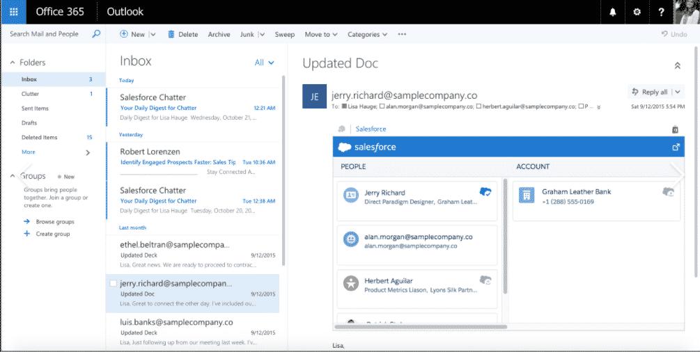 Sincronizar el correo electrónico de Outlook con Salesforce